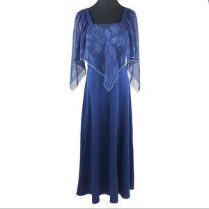 Lovely vintage 70's navy maxi dress